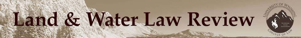Land & Water Law Review