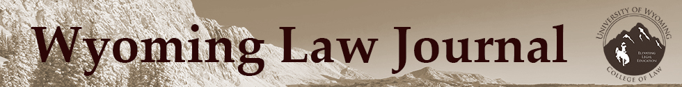 Wyoming Law Journal